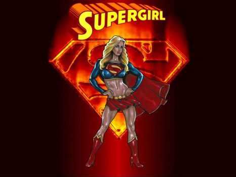 Fiery Supergirl by Superman8193