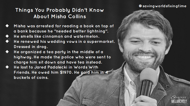 Things You Didn't Know About Misha Collins by fandomobessesed14