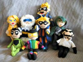 Eight Plushie Rogues by furrychaos