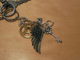 Steampunk Key Charm by DemoraFairy