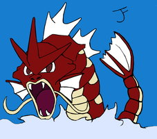 Gyarados lineart -Shiny vers by Bubby-Bobble