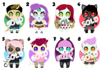 Mini Monster Adoptables - CLOSED by chunk07x