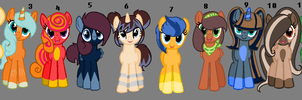 And even more pony adopts FINALLY UPDATED AND CLOS by IIbukiMioda