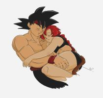 Bardock and Sarazade - for Agra19 by Hierlihy