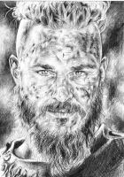 Travis Fimmel as Ragnar Lothbrok by kamilafranke