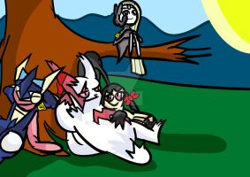 chilling With The Squad ( Request by thepenguin78) by baasbas16