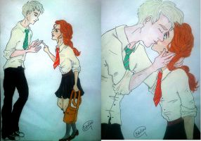 First kiss by Estelior