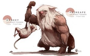 MANKEY - PRIMEAPE by MrRedButcher