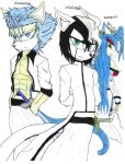 Grimmjow and Ulquiorra colourd by Rasukeuchiha