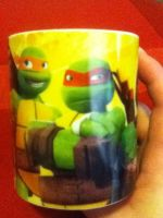 my tmnt mug, on the other side,mikey and raph. by Wolf-Angel-whitewing