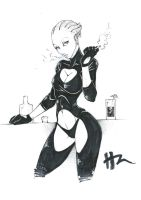 Sketch: Asari Dancer by Blunt-Katana