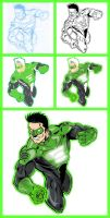 Green Lantern - Kyle - Process by GreenArrow