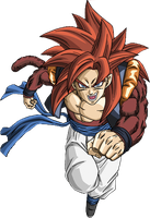 Render de Gogeta SSJ4 by Gokunks