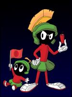 Marvin the Martian and Baby Marvin by Shadow-Griffiness