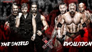 Extreme Rules - The Shield vs The Evolution by MarcusMarcel