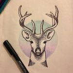 Deer tattoo design by vickies41
