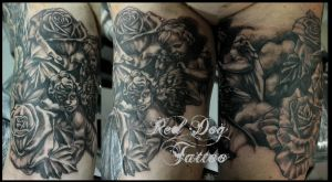 Paul Sleeve II by Reddogtattoo