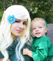 Link and his Mother by HeatherCosplay