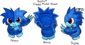 Ziggy Model Sheet *Mainstream Series* by trinityweiss
