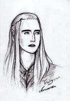 Thranduil sketch by spolokh