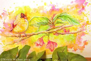Little Birdie Speed Painting by Nicole-Marie-Walker