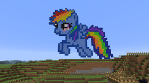 Filly Rainbow Dash in Minecraft by Ivo-Kintobor
