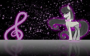 MLP:FiM Octavia Reflections Wallpaper by DJ-TaviStar