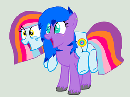 Dolly Flash and MidNight Star cuties! by cottoncloudyfilly