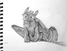 Toothless Sketch by Yangsl