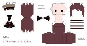 D.Gray-man OC Papercraft - Mika by Larry-San