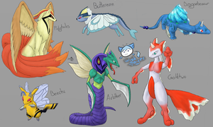 Pokemon Fusions by Wishsayer