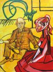 Pablo Picasso and Brigitte Bardot by simpleton--T