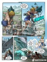 Toppling Towers by giantess-fan-comics