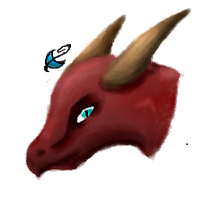 Dragonhead Iscribble by Nachturia