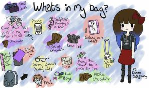 What's in my bag? meme by QueenJellybeany