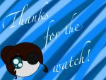 Adelina Thanks For The Watch Card by TailorOfArt