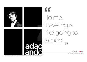 Tadao Ando by chiaroscuray