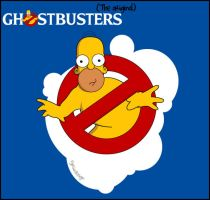 Homer Ghostbusters by fabyogtr
