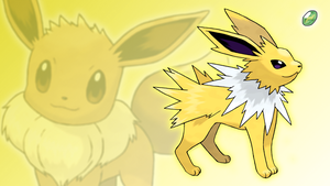 Eevee and Jolteon Wallpaper by Glench