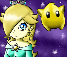 Rosalina and Luma by EmilytheHedgehogFTW