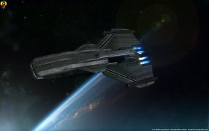 Prothean Frigate by Euderion