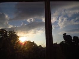 Sunset from my bedroom by defyinggravity10