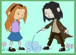Lily and Severus -COLORED- by RustyGrass33