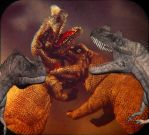 Ceratosaurus nasicornis, meet your old selves! by TrefRex