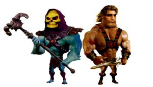Skeletor and He-Man by planetbryan