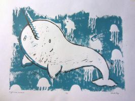 Narwhal print 4 by Celestialbeast