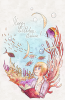 Happy birthday, Armin! snk by Esukein