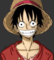 Monkey D. Luffy! Colored by mmkurt