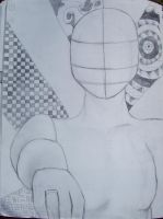 Manikin zentangle by TheSecretWisher