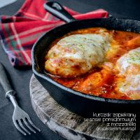 Chicken with tomato sauce and mozzarella by Pokakulka